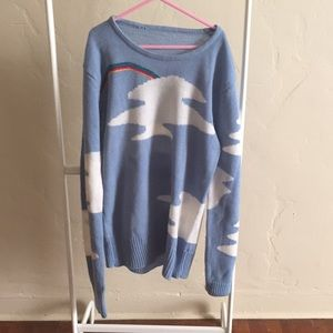 Vintage 70's rainbow and cloud sweater